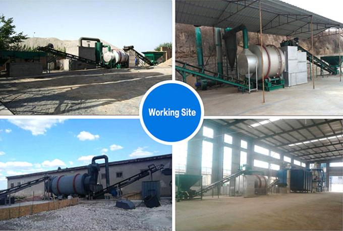 Professional Rotary Drum Dryer Machine Silica Sand Dryer 10-40t/H Capacity