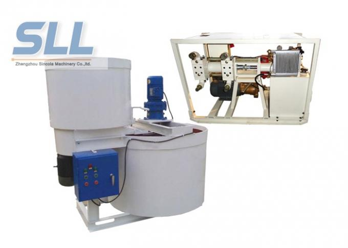 High Speed Cement Grouting Pump Double Layer Electric Mortar Mixer Machine For Grout Pump