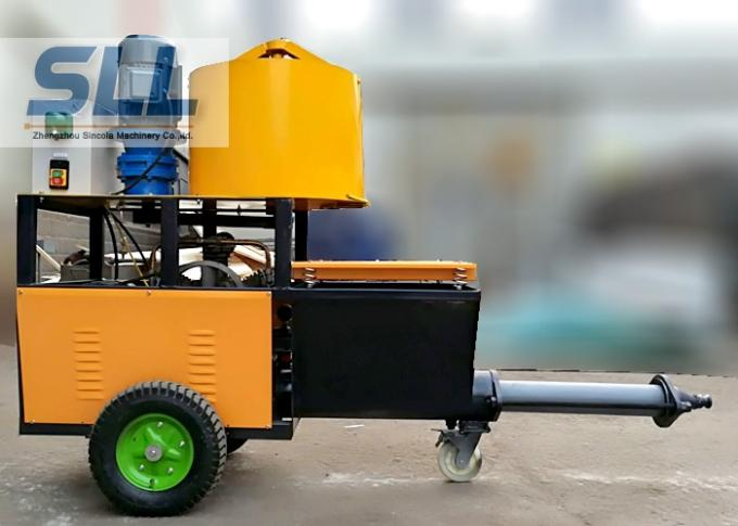 4m3 / H Mortar Spraying Machine Exterior Wall Plastering Pumping Delivery 30m For Building