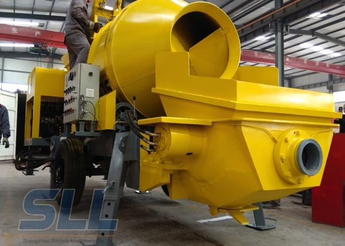 Industrial Concrete Mixer Pump , Diesel Concrete Pump 40 Feet Container