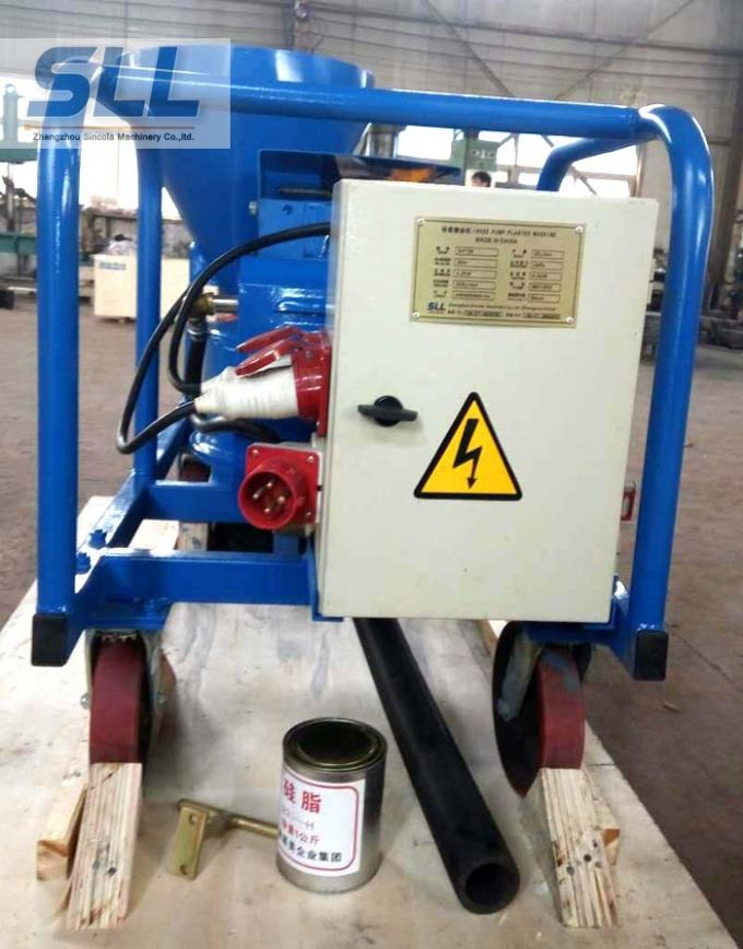Compact Structure Cement Spraying Equipment , Spray Plaster Machine With Control Box