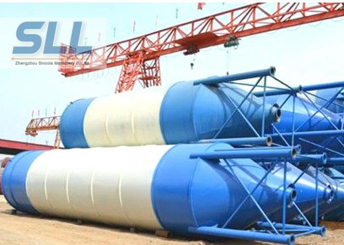 Waterproof Steel Cement Silo , Batching Plant Silo Convenient Installation