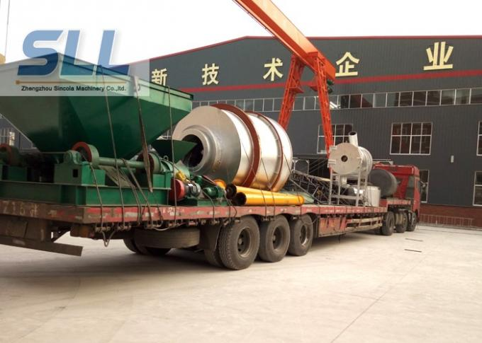 Environmentally Friendly Sand Rotary Dryer / Drum Drying Machine Easy Operation