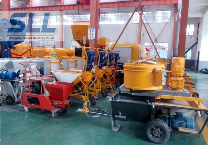 High Pressure Cement Mortar Spraying Machine Screw Type Customized Color