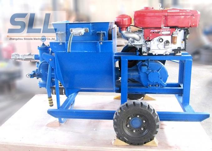 Single Cylinder Cement Mortar Pump For Hydropower Construction Convenient Maintenance