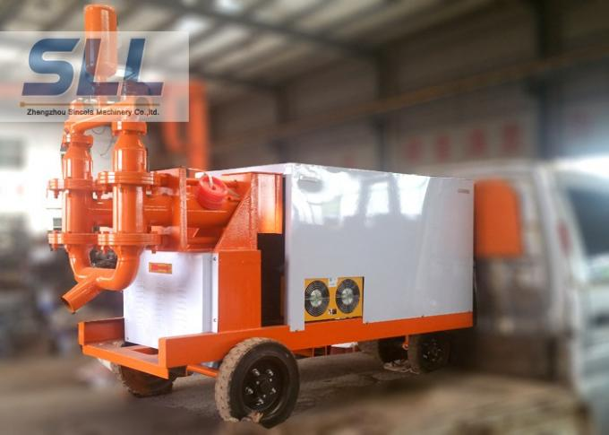 Fully Hydraulic Cement Mortar Pump Mobil Concrete Pump Fast Speed 110L min