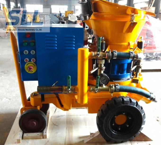 Convenient Operation Concrete Spraying Machine For Dry / Damp / Wet Concrete Spray
