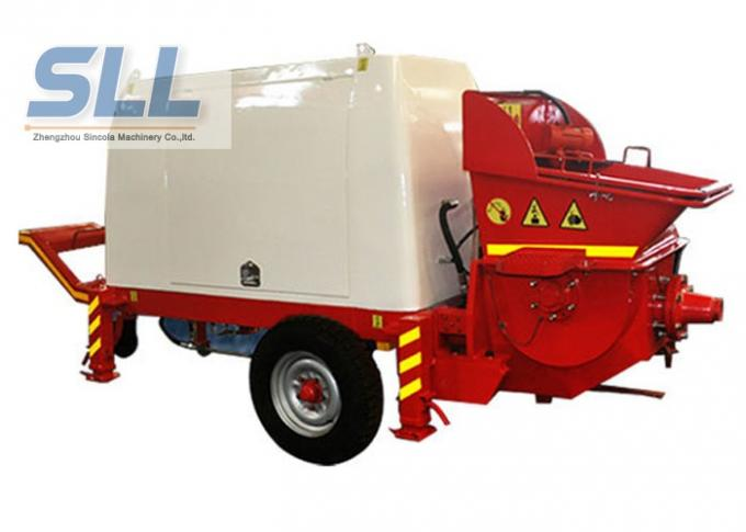 Horizontal Cement Mortar Pump Machine For High Level Mortar Conveying