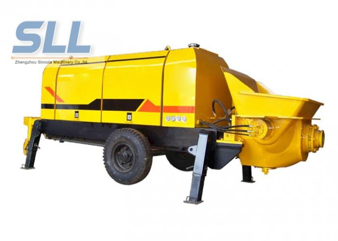Diesel Engine Compact Concrete Pump , Construction Concrete Pump Color Chargeable