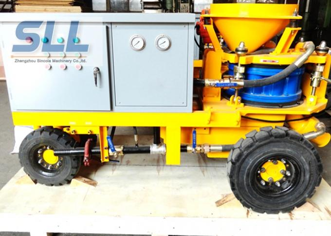Less Dust Wet Durable Concrete Spraying Machine High Concrete Strength