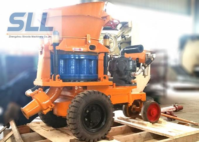Pneumatic drive SPZ - 3A shotcrete machine with air motor explosion proofing working