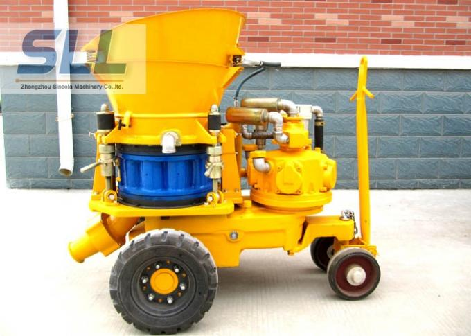 Air Driven Concrete Spraying Machine With Rubber Sealing Plate Easy Operation