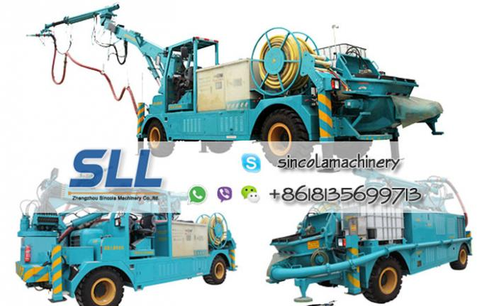 Stability concrete spraying shotcrete machine for sale convey cylinder with long stroke
