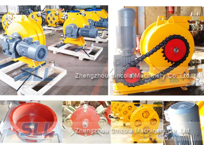 Peristaltic Concrete Pump / Flexible Tube Pump High Pressure Resistance
