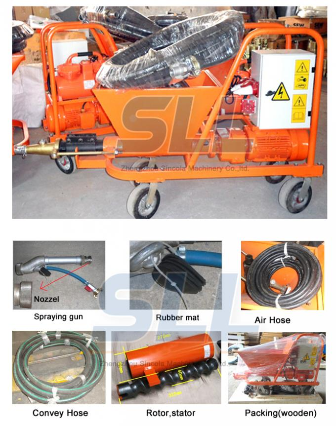 High Efficiency Wall Cement Plaster Machine 380V / 7.5kW 12 Months Guarantee