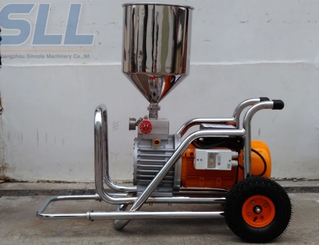 Stainless Portable Wall Coating Mortar Spraying Machine Flow Rate 12L/Min