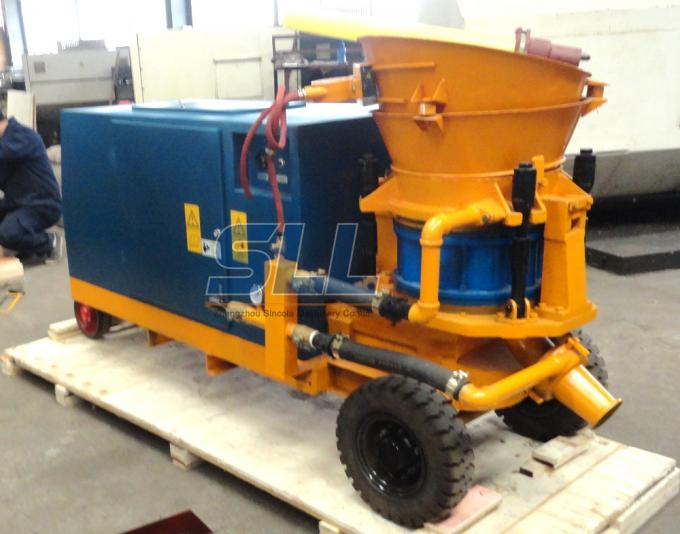 Big Diesel Dry Shotcrete Machine / Cement Concrete Shotcrete Equipment For Tunnel