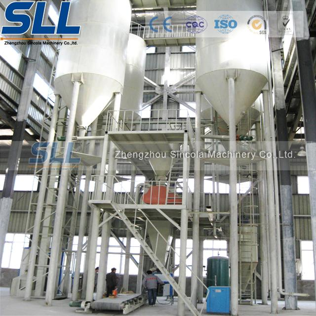 Tower Type Full Automatic Dry Mix Mortar Production Line Carbon Steel Material