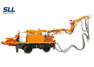 China Robotic Telescopic Arm Concrete Pumping Machine For Mine / Tunnel / Construction supplier