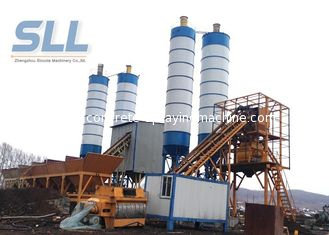 China PLD1600 Belt Type Concrete Batching Plant For Big / Medium Construction Project supplier