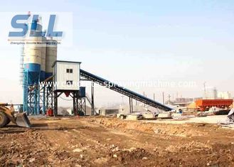 China HZS60 Fully Automatic Concrete Batching Plant With JS1000 Concrete Mixer supplier