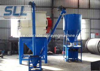 China Steel Tile Bonding Dry Mortar Mixer Machine With Packing Machine 1 - 5t/H Production supplier