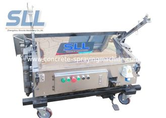 China Self Leveling Pole Folding Automatic Wall Plastering Machine Light Weight supplier