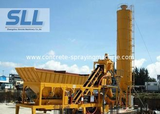 China Integrated Design Concrete Batching Plant Mobile Mixing Plant 12 Months Warranty supplier