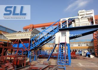 China Commercial Mobile Concrete Batching Plant High Performance Simple Operation supplier