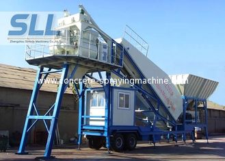 China Professional Mobile Concrete Batching Plant Mobile Batch Plant Concrete With JS500 Mixer supplier