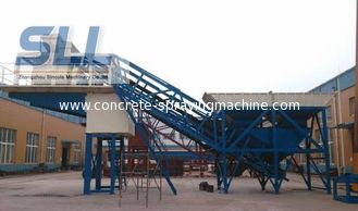 China Small Scale Building Mobile Concrete Batching Plant OEM / ODM Available supplier