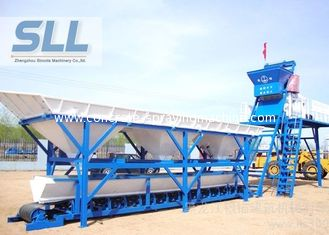 China 76kw Mini Mobile Concrete Batching Plant / Small Portable Concrete Batch Plant supplier