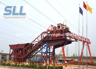 China Mobile Ready Mix Concrete Plant / Portable Cement Plant Customized Color supplier
