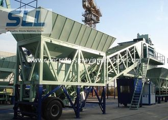 China Wet Mix Mobile Concrete Batching Plant Computer Control 35m3/H Capacity supplier