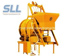 China Mini Mobile Batching Plant , Mobile Concrete Mixer Machine With Bucket Lifting supplier