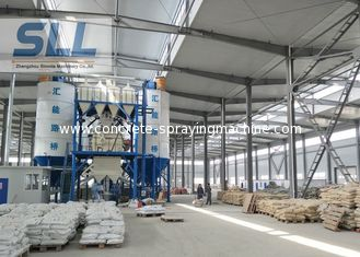 China Small Dry Mix Mortar Manufacturing Plant , Ready Mix Concrete Plant Machinery supplier