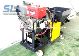 China Color Changeable Spraying And Plastering Machines High Efficiency 12HP 5MPa supplier