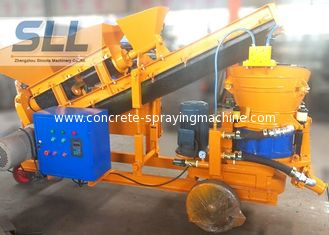 China Screw Mixer Concrete Spraying Machine Self Loading Shot Concrete Machine supplier