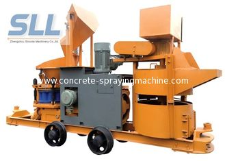 China Customized Color Portable Shotcrete Machine With Cement Mixer / Hose Pump supplier