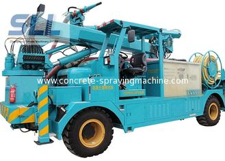 China Air Compressor Cement Pump Truck / Mechanical Arm Concrete Pumping Equipment supplier