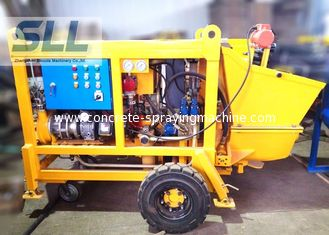 China Diesel Engine Concrete Pumping Equipment With Concrete Hose 15m3/H Output supplier