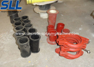 China Concrete spraying equipment parts rubber chamber protection the machine supplier