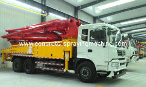 China 38m Reaching Height Cement Pump Truck / Small Cement Pump CXZ51Q Chassis Model supplier