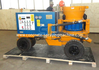 China Big Diesel Dry Shotcrete Machine / Cement Concrete Shotcrete Equipment For Tunnel supplier