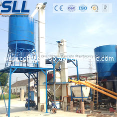 China Tower Type Full Automatic Dry Mix Mortar Production Line Carbon Steel Material supplier