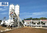 China HZS50 Ready Mix Batching Plant , Ready Mix Concrete Plant Without Cement Silo factory