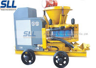 Mix Refractory Concrete Shotcrete Machine 200m Convery Distance Slope Reinforcement