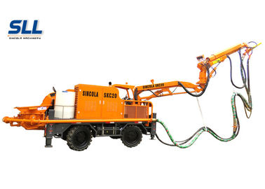 China Robotic Telescopic Arm Concrete Pumping Machine For Mine / Tunnel / Construction distributor