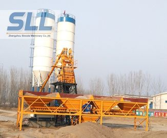 China Customized Color Wet Batch Concrete Plant Equipment High Efficient HZS25 distributor