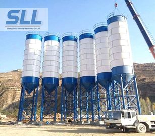 China Stationary Type Fly Ash Storage Silo For Concrete Mixing Plant 3-10T distributor